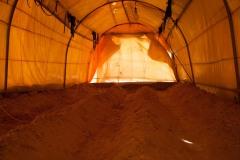 De plus en plus de Sahraouis commencent à investir dans l'agriculture. Ici, des carottes et des haricots verts vont être semés. Les semences sont achetées à Tindouf ou fournies par les ONG.