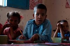 Un élève à l'école Martyr Mustafa Mohammed Ahmed, dans le camp de Smara.