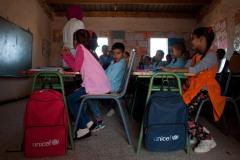 Scène de classe à l'école Martyr Mustafa Mohammed Ahmed, dans le camp de Smara.