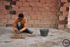 Fabrique de briques dans le sud de la Tunisie, 2012.